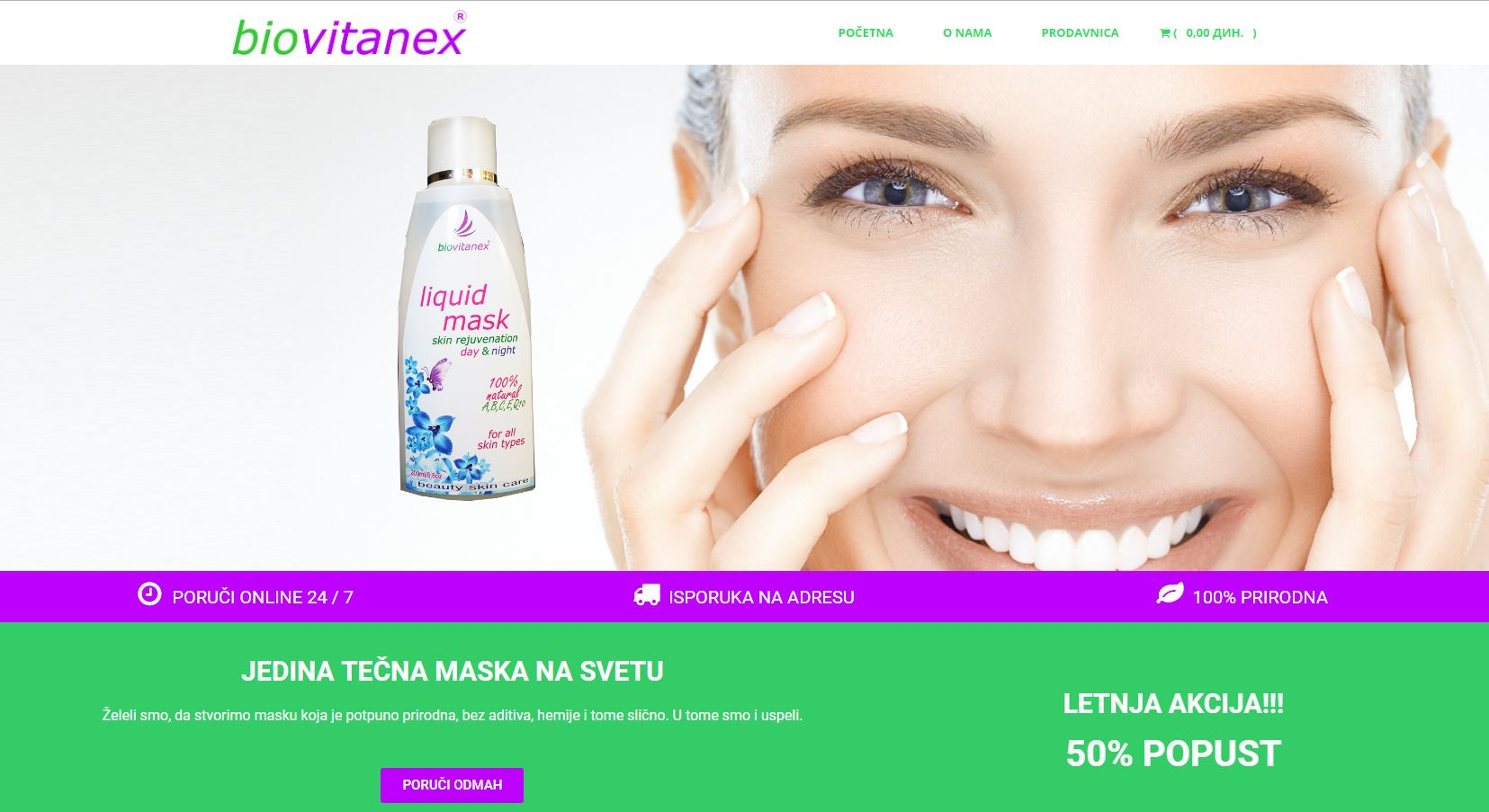 Biovitanex online prodavnica | Tečna maska za lice